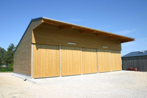bâtiment agricole stockage bardage bois