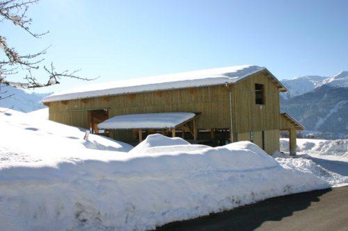 bâtiment d'élevage montagne