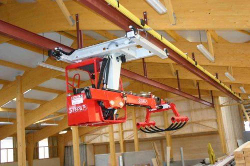 griffe à fourrage bâtiment bois