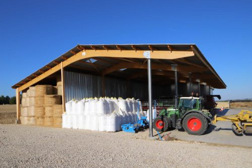 Bâtiment de stockage, charpente mixte en Bourgogne
